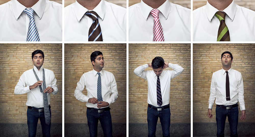 My friend with the ties   portraits