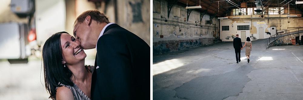 Preshoot in a garage with Camilla & Fredrik by Oskar Allerby