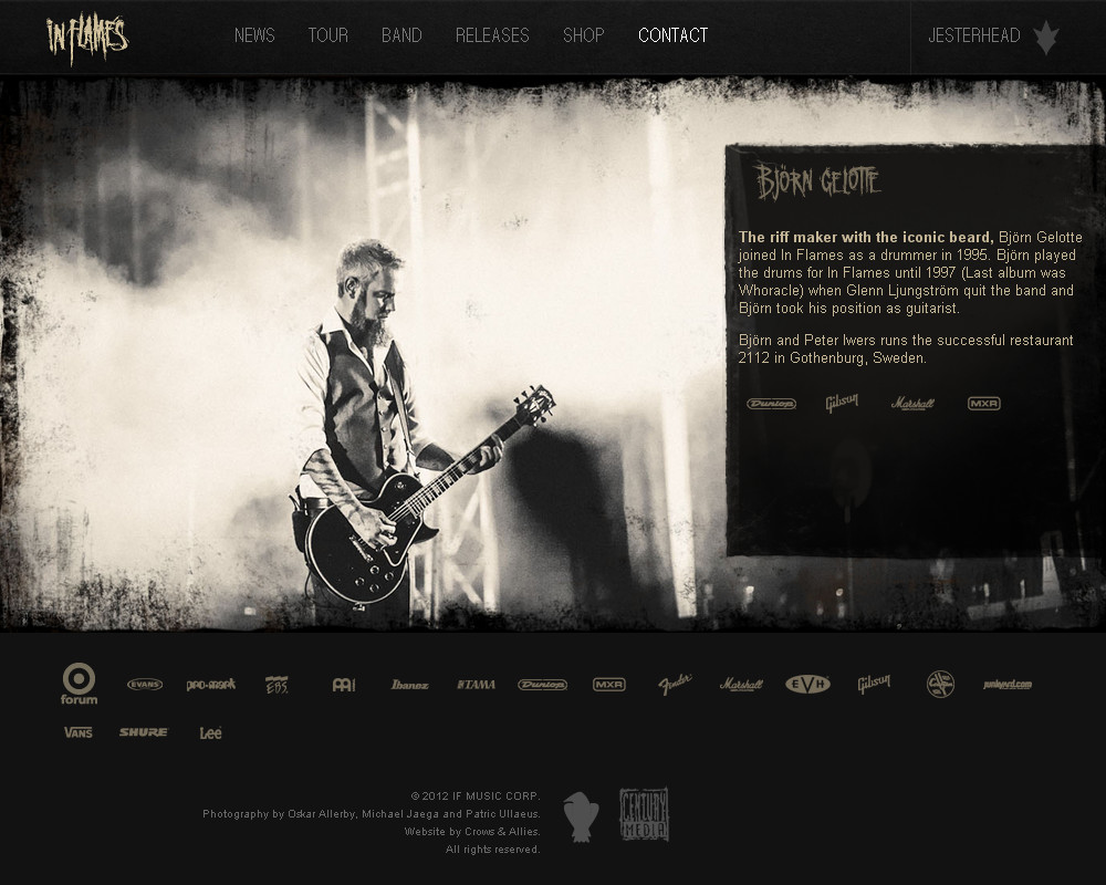 New website for In Flames   music