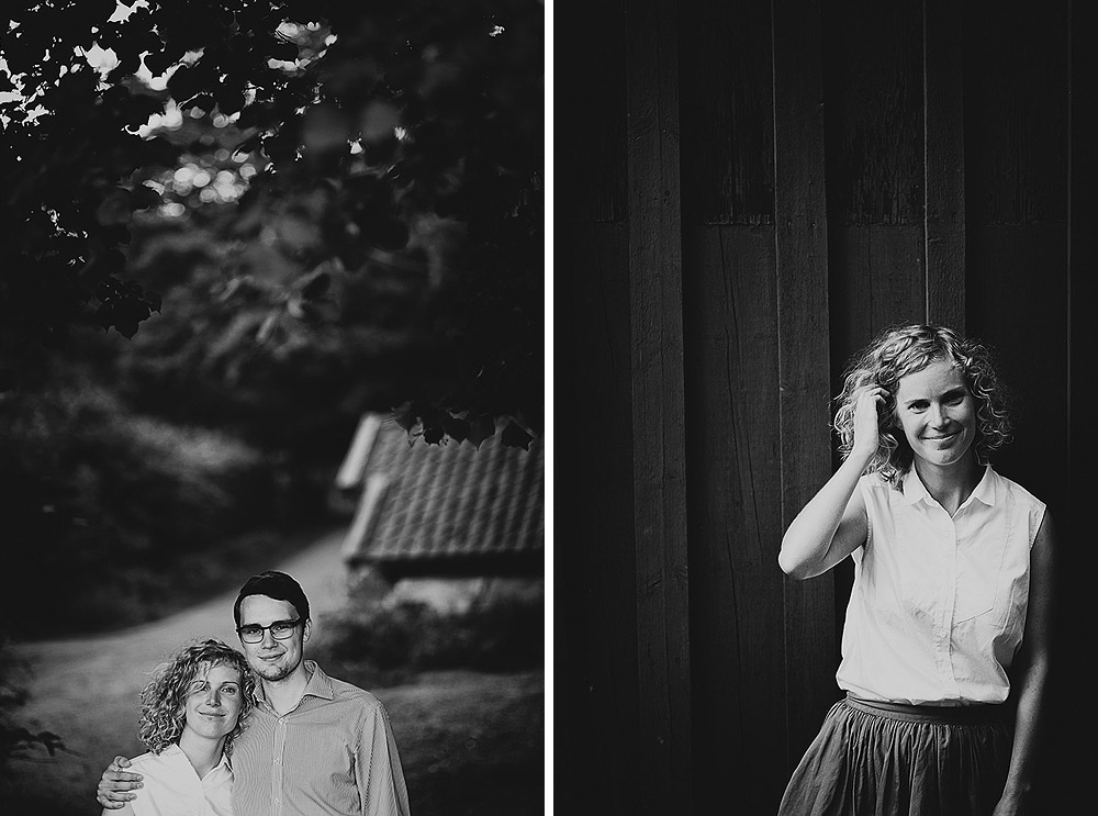 Ingrid and Leonards engagement shoot in the woods in Gothenburg   engagement sessions en